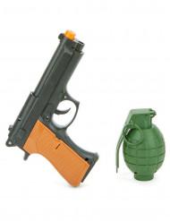 Pistola e granata da soldato