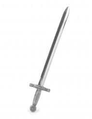 Spada da cavaliere medievale argentata