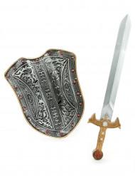 Scudo e spada da cavaliere bambino