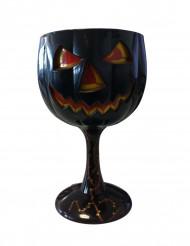 Bicchiere zucca nera Halloween