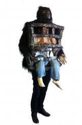 Costume gorilla con uomo in gabbia