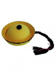 Cappello cinese con codino