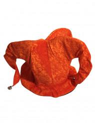 Cappello giullare arancione adulto