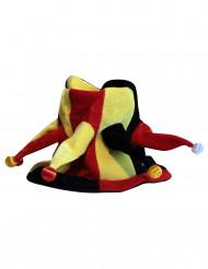 Cappello da giullare giallo rosso e nero