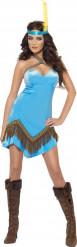 Costume indiana sexy blu donna