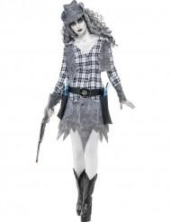 Costume fantasma cowgirl donna halloween