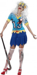 Costume zombie giocatrice di hockey donna halloween