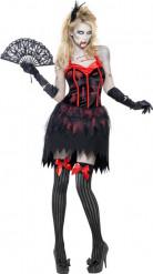 Costume zombie burlesque sexy donna Halloween
