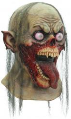 Maschera zombie con linguaccia per adulto