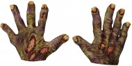 Mani da zombie con ferite per adulto Halloween