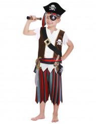 Costume da pirata con accessori per bambino