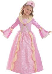 Costume principessa medievale rosa bambina