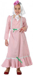 Costume spagnola bambina bianco e rosso
