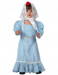 Costume tradizionale spagnola azzurro neonata