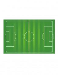 Decorazione per torta campo da calcio in ostia 20 x 30 cm