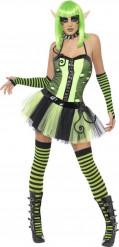 Costume elfo verde donna