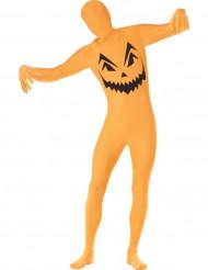 Costume seconda pelle zucca halloween