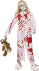 Costume zombie pigiama bambina Halloween