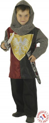 Costume cavaliere con stemma dorato bambino