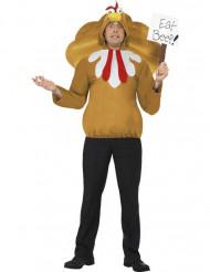 Costume da tacchino adulto