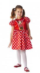 Costume Minnie™ rosso a pois bambina