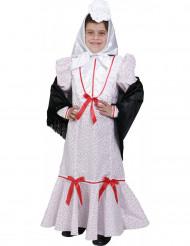 Costume tradizionale spagnola con foulard bambina