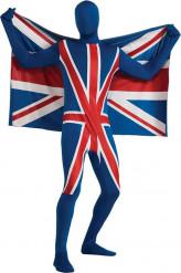 Costume seconda pelle bandiera Regno Unito adulto