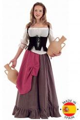 Costume medievale da donna villica