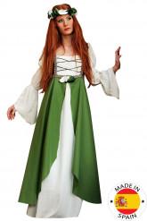 Costume medievale verde donna