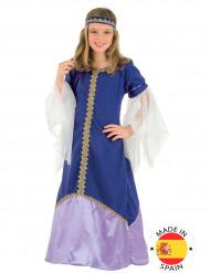 Costume regina Medievale blu bambina