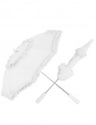 Ombrellino parasole pizzo bianco