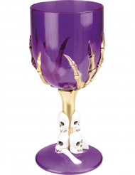 Calice viola con teschi - Halloween