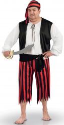 Costume pirata per uomo in taglia grande