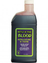 Bottiglia sangue finto