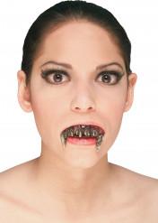Dentiera effetto acciaio per Halloween
