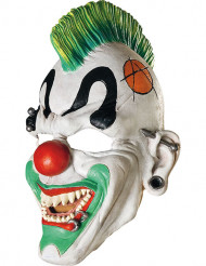 Maschera clown punk adulto