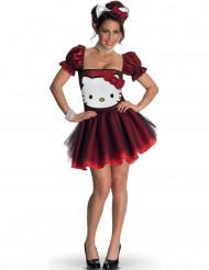 Costume Hello Kitty™ rosso adulto