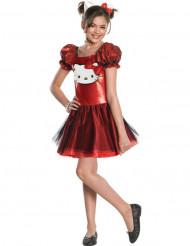 Costume Hello Kitty™ rosso bambina