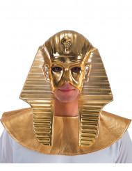 Maschera dorata faraone egizio uomo