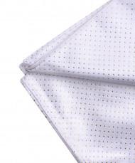 Tovaglia quadrata in tessuto bianco e oro