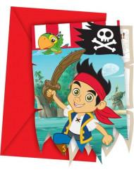 6 Inviti per feste Jake e i Pirati™