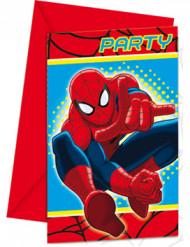 Confezione di 6 inviti Spiderman™
