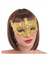 Maschera veneziana dorata per adulti