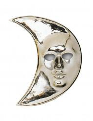 Maschera a forma di luna argentata