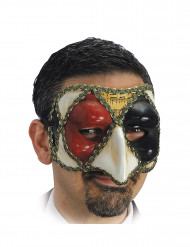 Maschera veneziana arlecchino adulto