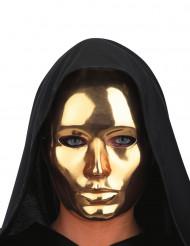 Maschera viso dorata adulto