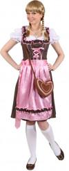 Costume tradizionale Bavarese rosa da donna