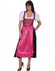 Costume tradizionale rose a quadri Bavarese donna