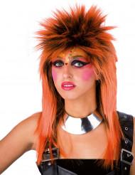 Parrucca Punk arancione adulto