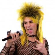 Parrucca da punk gialla